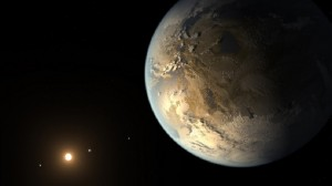 Artist's depiction of an Earth-like Kepler 186f. (NASA Ames/SETI Institute/JPL-CalTech)