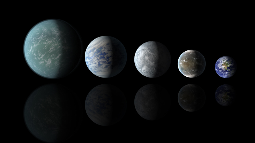 It now appears that many of the fanciful artist depictions of super-Earths are wrong and that most of these planets are more like Neptune than the Earth. (NASA Ames/JPL-Caltech)
