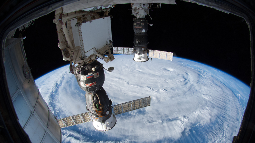 View of a Typhoon Neiguri from the ISS on July 7, 2014. (NASA-JSC).