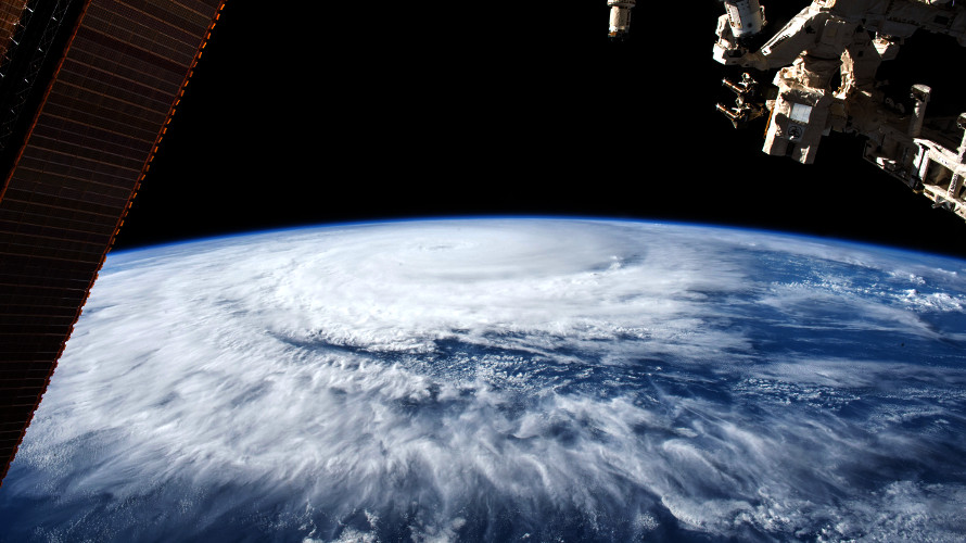 View of Tropical Cyclone Eunice from the ISS on January 30, 2015. (NASA-JSC)
