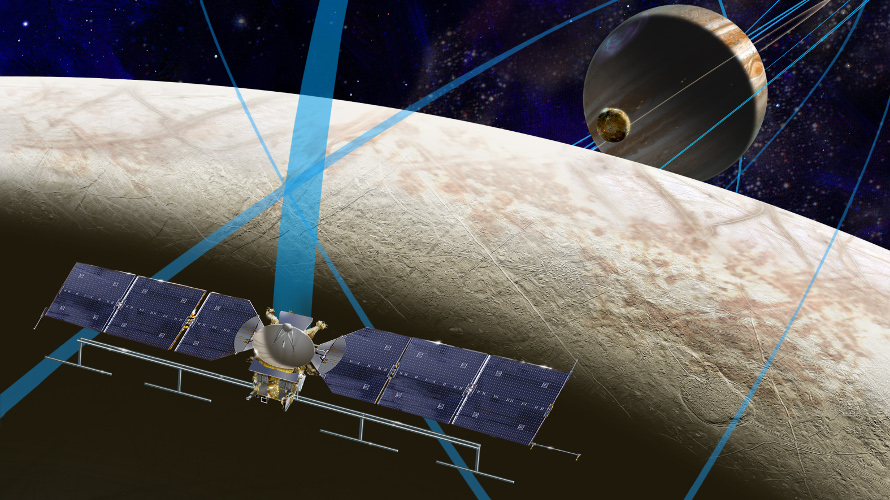 Artist depiction of NASA proposed Europa Clipper mission. (NASA)