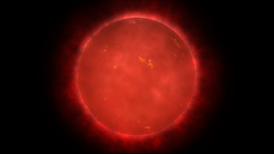 Artist conception of a red dwarf. (NASA)