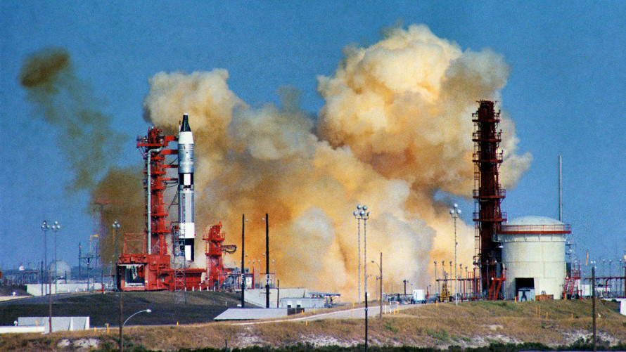 The launch abort of Gemini 6A on December 15, 1965. (NASA)