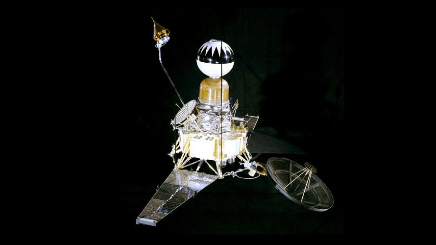 A model of the Block II Ranger built by JPL to attempt America's first lunar landing. (NASA/JPL)