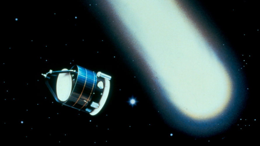 An artist's depiction of Giotto approaching Comet Halley in March 1986. (ESA)