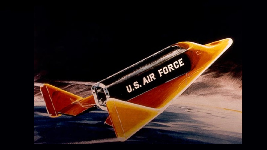 An artist's depiction of the X-20 Dyna Soar during reentry. (NASA)